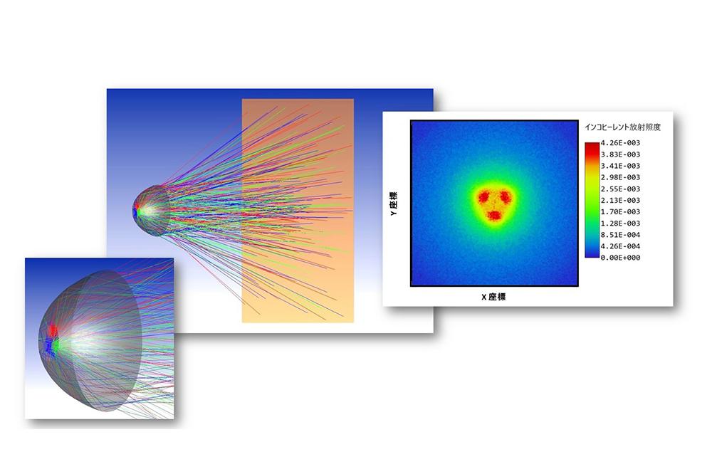 光学シミュレーション画像